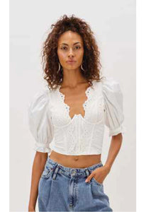 For Love & Lemons Serena Crop Top