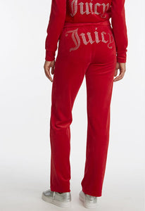 Juicy Couture Velour Embellished Elastic Sweatpants
