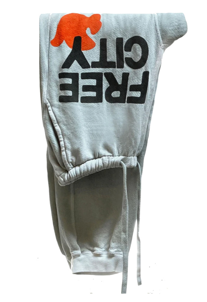 FREE CITY Large Sunfades Pocket Sweatpant in Silvercloud Sunfade