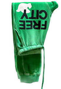 FREE CITY Large Sunfades Pocket Sweatpant in Schoolgreen Sunfade