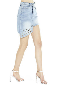 MISA Los Angeles Super Star Asymmetrical Mini Skirt
