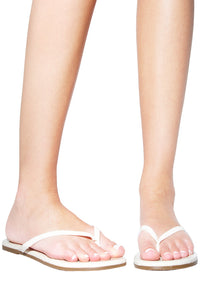 Tkees Glosses Patent Leather Sandal in Licorice