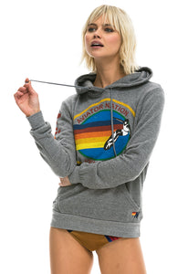 Aviator Nation Pullover Hoodie in Heather Grey