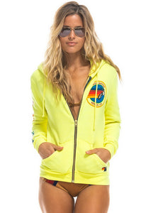 Aviator Nation Neon Zip Logo Hoodie