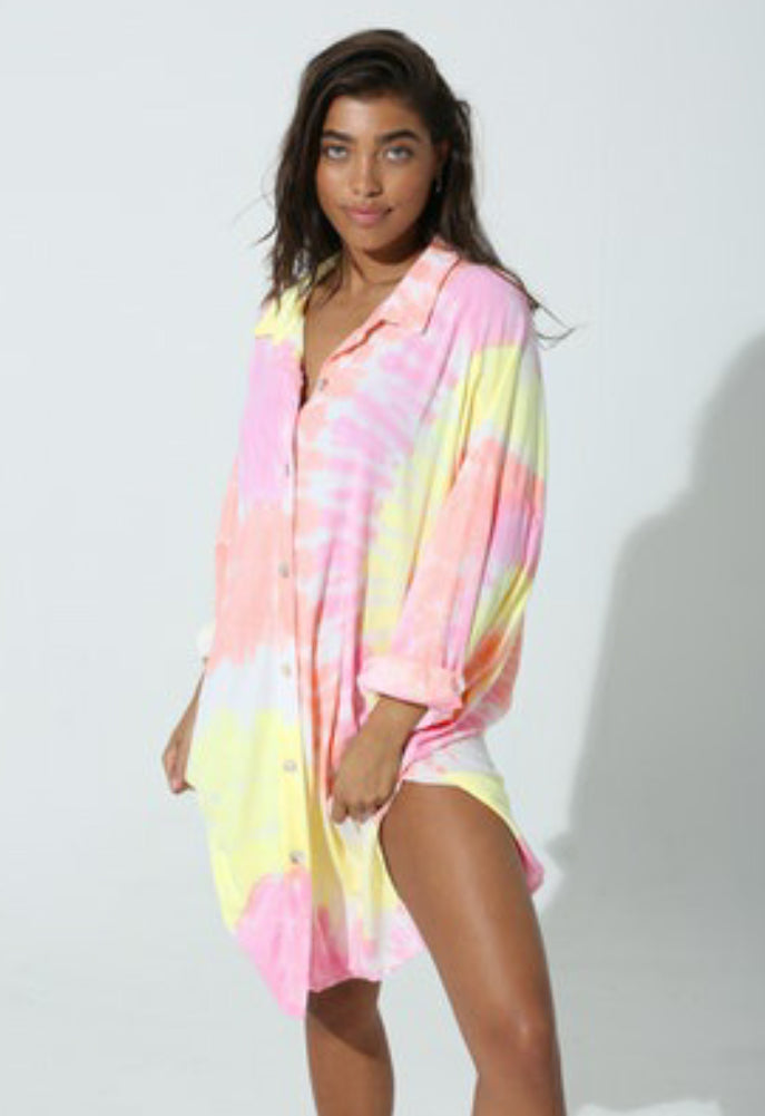 Electric & Rose Prism Seaside Coverup
