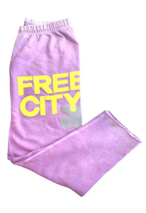FREE CITY Large Rollups in Pinkmilk Sunfade