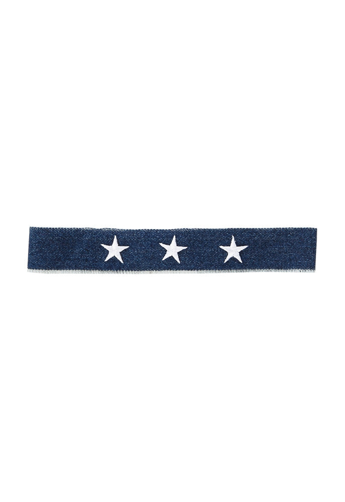 Electric Picks Supernova Denim Choker With Stars