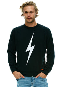 Aviator Nation Bolt Crew Sweatshirt in Charcoal