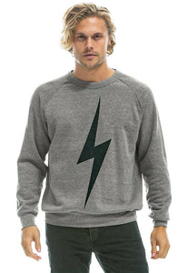 Aviator Nation Bolt Crew Sweatshirt in Heather Grey