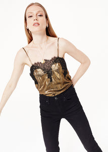 CAMI NYC The Sweetheart Lame Top