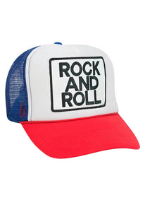 Aviator Nation Rock and Roll Vintage Low Rise Trucker Hat