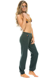 Aviator Nation 5 Stripe Sweatpants in Charcoal