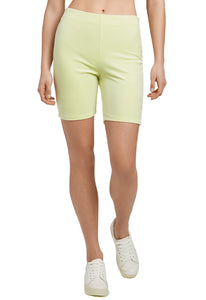Juicy Couture Velour Biker Short in Candy Green