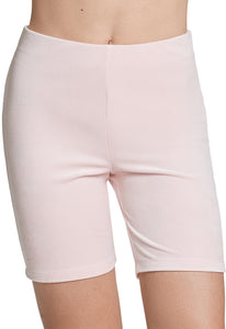 Juicy Couture Velour Biker Short in Charming Pink