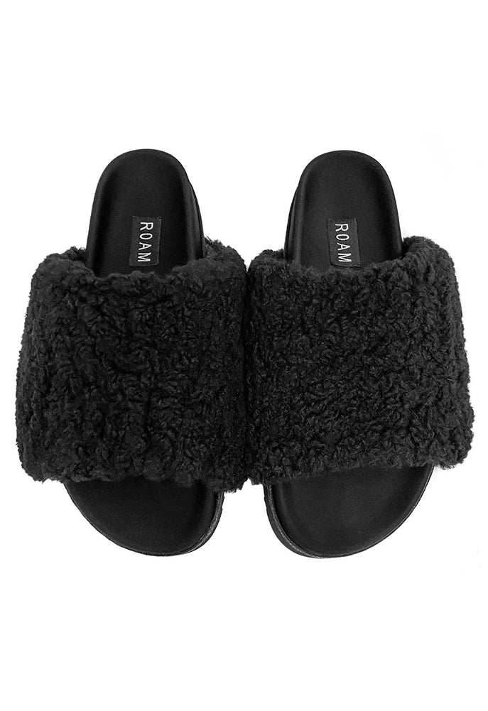 ROAM Black Fuzzy Slides