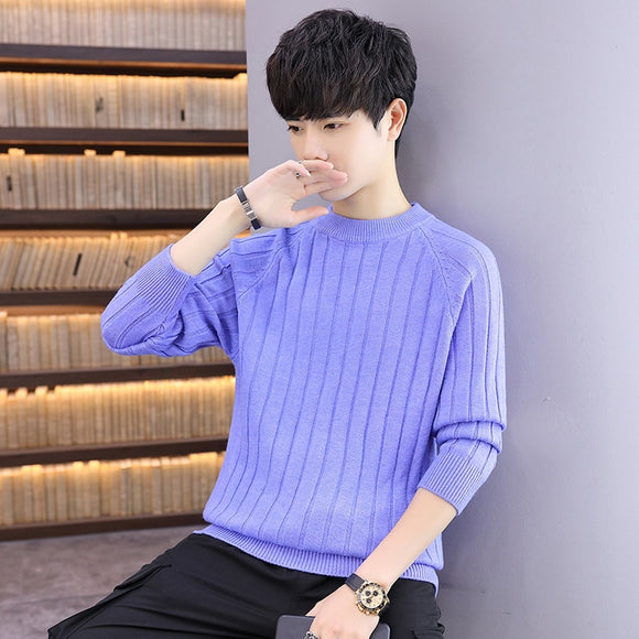 Men's Casual Knit Sweater 2020 Autumn Winter New Slim Fit Pullover Wool Cashmere Sweater Men Brand Clothes hot