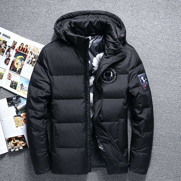 Hot Sale Fashion Winter Big Hooded Duck Down Jackets Men Warm High Quality Down Coats Male Casual Winter Outerwer Down Parkas