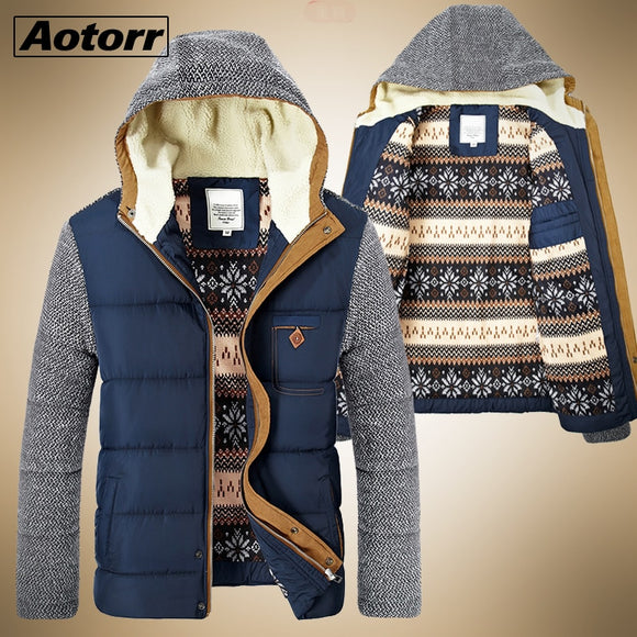 Winter Parkas Men Fur Warm Thick Cotton Multi-pocket Hooded Jackets 2020 Mens Casual Fashion Warm Coats Plus Size Overcoat