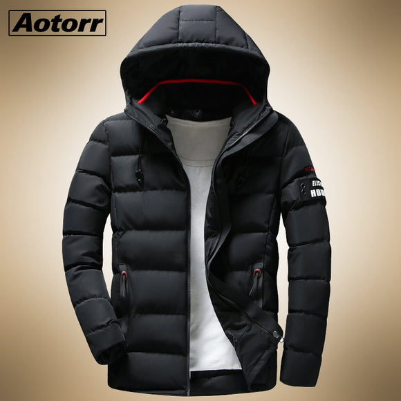 2020 New Winter Parkas Mens Coats Male jackets Casual Thick Hooded Waterproof  Zipper Outwear Warm Overcoats Men's Clothing
