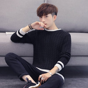 new wool knitted sweater men'pullover long sleeve O-neck fit men's sweater pullover men jumper soft high quality jumper