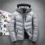 Winter Hooded Duck Down Jackets Mens Warm Thick Quality Down Coats Male Winter Overcoat Down Parkas Man Puffer Jackets