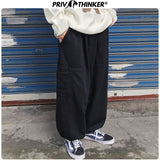 Privathinker Men Gray Pockets 2020 Casual Sweatpants Mens Loose Collage Straight Pants Male Streetwear Trousers Fashions Pants