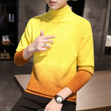 2020 new male young students trend personality style contrast knit pullover sweater hot selling men's sweater