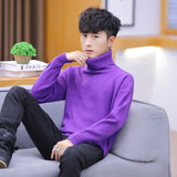 2020 new hot men's sweater spring and autumn new high-neck casual Korean style trendy personality handsome