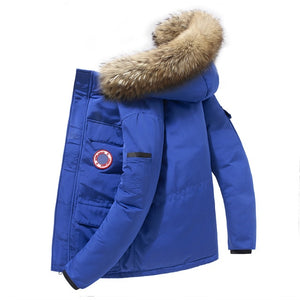 90%Down Jackets Men Winter Jacket Men Fashion Thick Warm Parkas Fur White Duck Down Coats Casual Man Waterproof Down Jackets 165