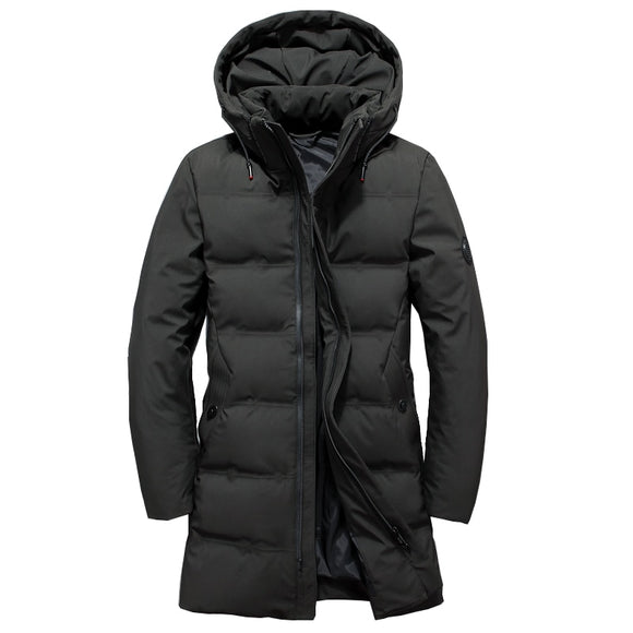 Fashion Brand Men's Duck Down Jacket Solid Winter Jacket for Men Doudoune Homme Hooded Men's Winter Jacket Coat long Down Jacket