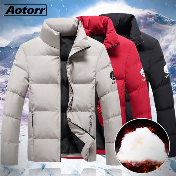 Winter Parkas Men 2020 New Casual Zipper Coat Thick Waterproof Embroidery Jacket Mens Fashion Outwear Windproof Warm Parka Coat