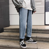 Privathinker New Arrival Men Jeans Pants 2020 Korean Streetwear Solid Color Straight Pants Spring Fashion Male Denim Trousere