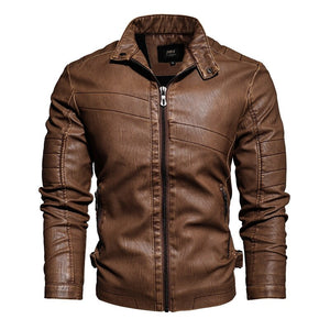 Winter Men Leather Bomber Jacket Motorcycle Slim Fit Coat Mens Fashion Zipper Brand Coat  PU Jackets Fur Lined Warm Outwear 4XL