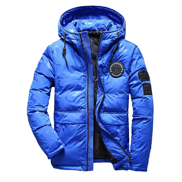 New Fashion Brand Light Down Men Warm Thermal Windproof Fashion Casual Hooded Detachable Winter Men's Down Jacket Overcoat