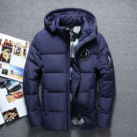 New Fashion Winter Big Hooded Duck Down Jackets Men Warm High Quality Down Coats Male Casual Winter Outerwer Down Parkas