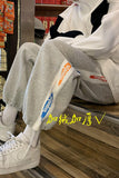 Men's Overszied Sweatpants Spring 2021 Korean Men Casual Harem Pants Harajuku Graphic Printed Male Drawstring Trousers Hip Hop