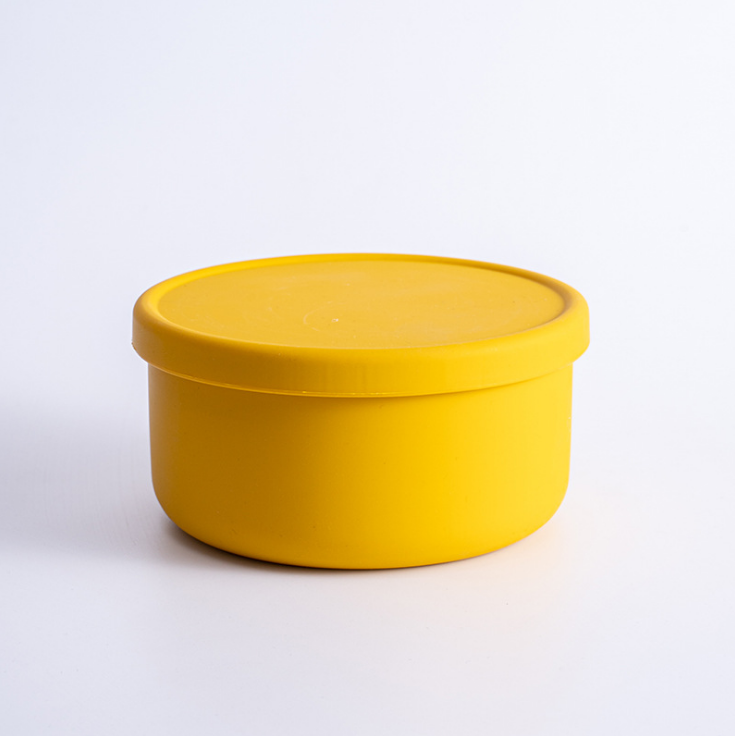 Set of 2 Silicone Containers - Yellow