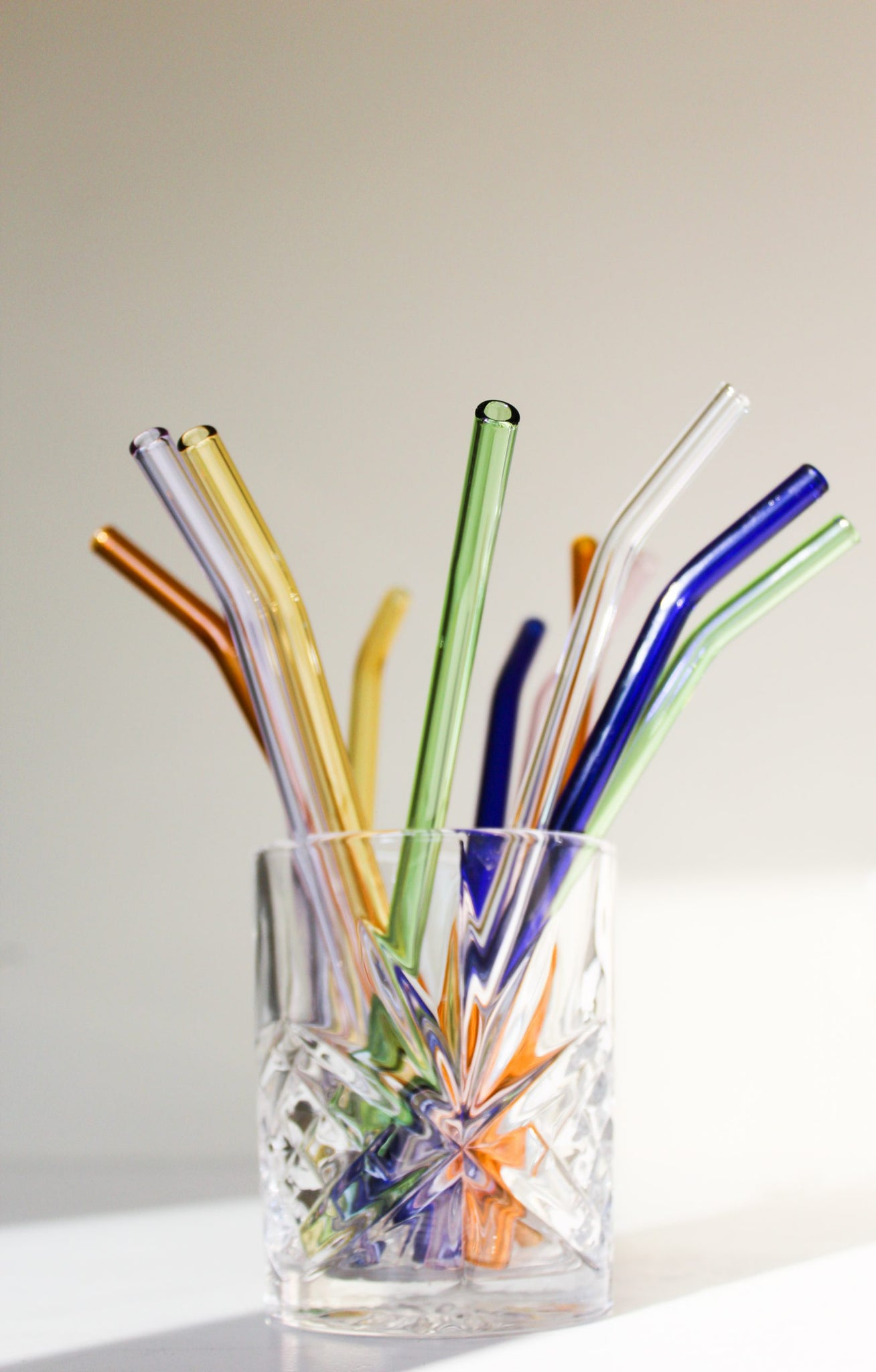 Coloured Pastel Glass Straws Sustainable 2