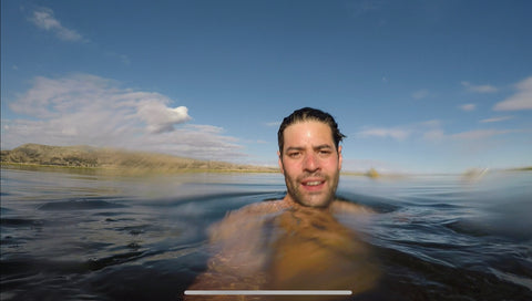 Wild Swimmer in a lake open water swimming
