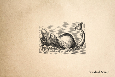 17th Century Sea Monster Rubber Stamp