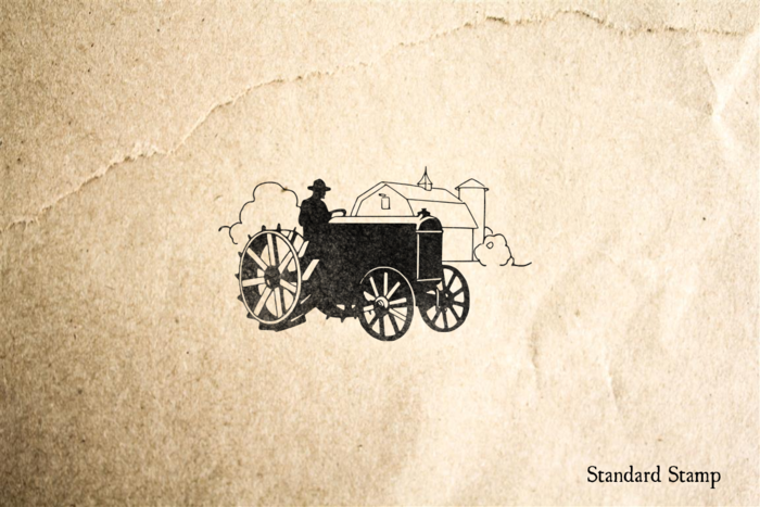 1920s Tractor Rubber Stamp