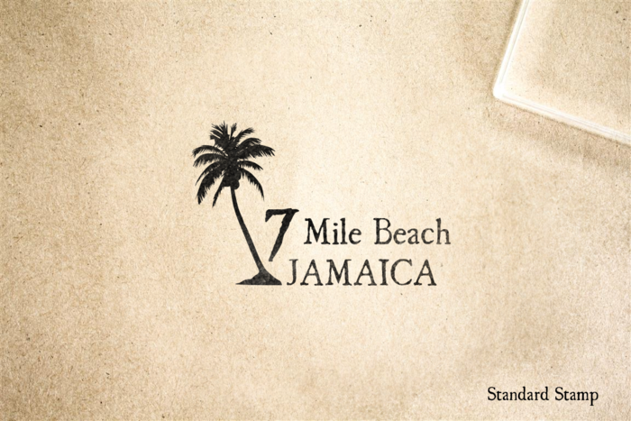 7 Mile Beach Rubber Stamp