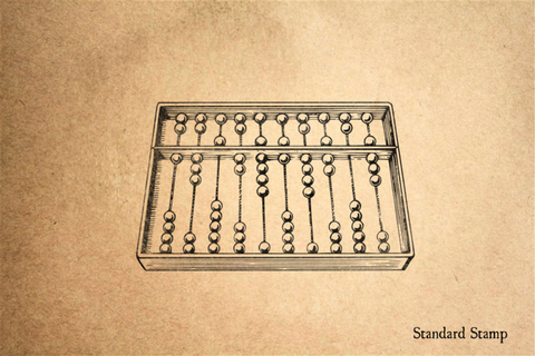 Abacus Rubber Stamp