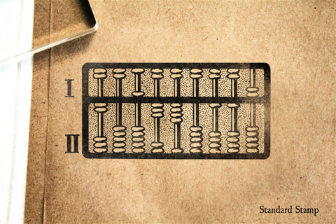 Abacus 2 Rubber Stamp