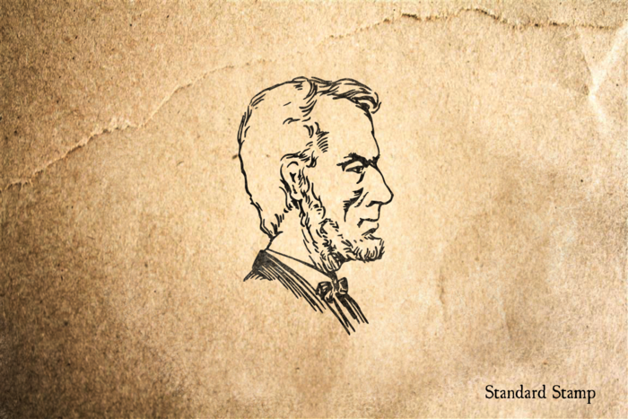 Abraham Lincoln Profile Rubber Stamp