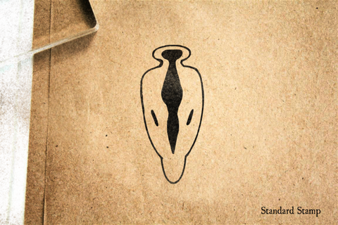 Abstract Arrowhead Design Rubber Stamp