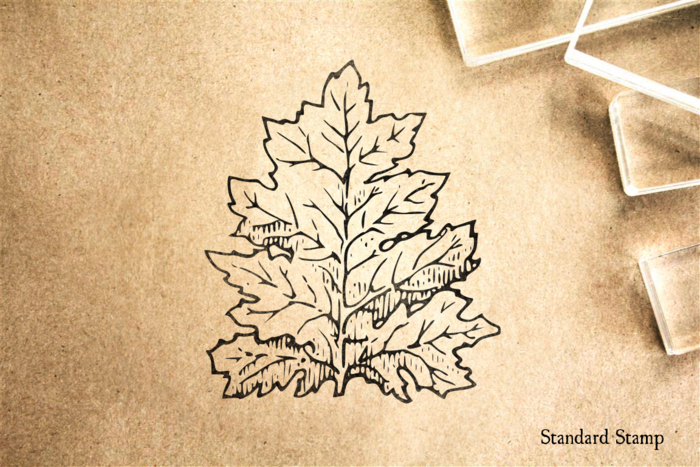 Acanthus Leaf Rubber Stamp