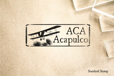 Acapulco Mexico Rubber Stamp