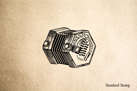 Accordion Rubber Stamp