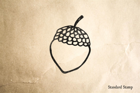 Acorn Outline Rubber Stamp